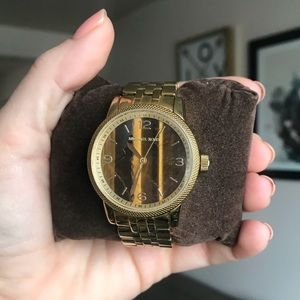 Rare Cat Eye and Gold Classic Michael Kors Watch